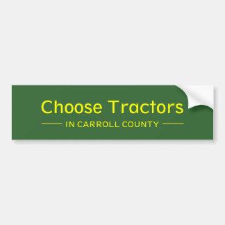 Elija los tractores en el condado de Carroll Pegatina Para Auto