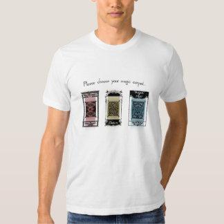 Elija por favor su alfombra mágica camisas