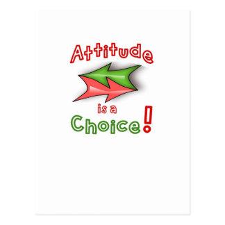 ¡Elija su actitud! Tarjetas Postales