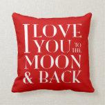 Elija su amor del color usted a la luna y a la par cojines