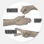 elija su arma etiquetas redondas