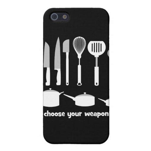 elija su arma iPhone 5 fundas