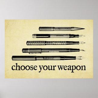 Elija su arma póster