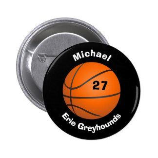 Elija su baloncesto personalizado color II del Pin Redondo De 2 Pulgadas
