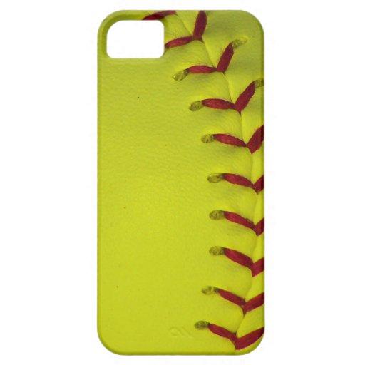 Elija su béisbol del color - softball iPhone 5 cobertura