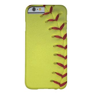 Elija su béisbol del color - softball funda para iPhone 6 barely there