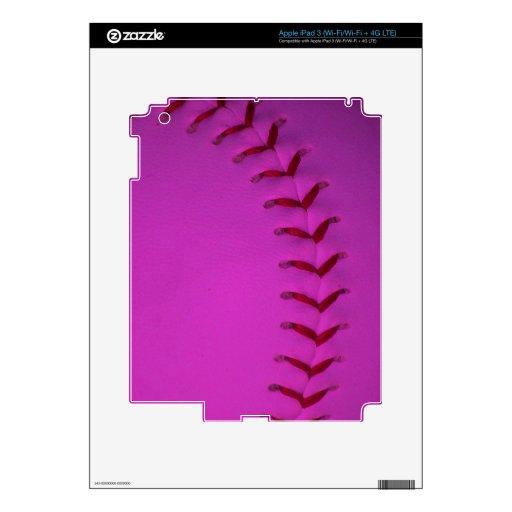 Elija su béisbol del color - softball iPad 3 pegatina skin