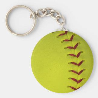 Elija su béisbol del color - softball llavero redondo tipo pin