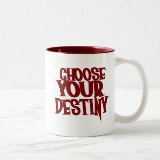 Elija su destino tazas de café