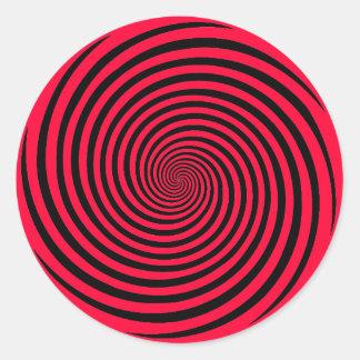 Elija su espiral de la hipnosis del color de fondo pegatina redonda