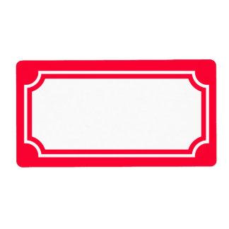 Elija su etiqueta de la buhardilla del color de fo etiquetas de envío