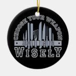 Elija su ornamento del personalizado del arma ornaments para arbol de navidad