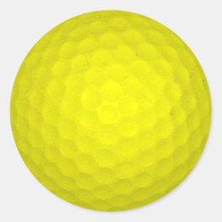 Elija su pelota de golf del color pegatina redonda