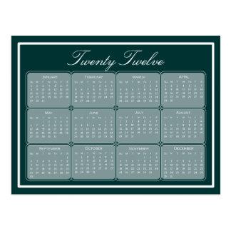 Elija su postal básica del calendario del color 20