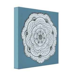 Elija su propia flor de encaje del tapetito del impresiones en lona estiradas