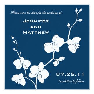 """¡Elija su propio color! Las orquídeas ahorran la Invitación 5.25"""" X 5.25"""""""