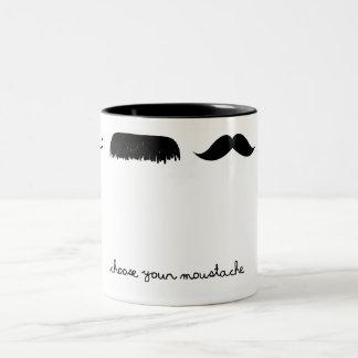 elija su taza del bigote