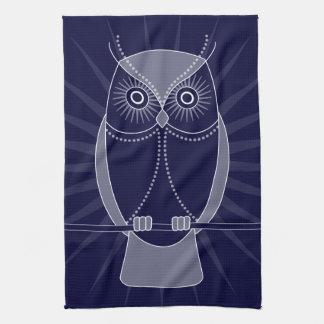 Elija su toalla de cocina vieja sabia de los búhos