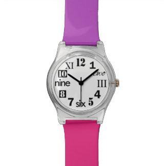 Elija sus colores, el reloj del número de las muje