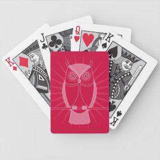 Elija sus naipes viejos sabios del búho del color cartas de juego