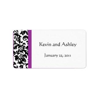 Elija sus propias etiquetas del favor del boda del etiqueta de dirección