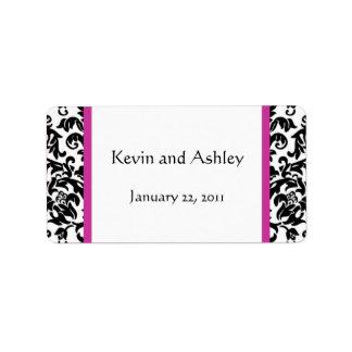 Elija sus propias etiquetas del favor del boda del etiquetas de dirección