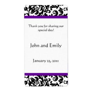 Elija sus propias etiquetas del favor del boda del etiquetas de envío