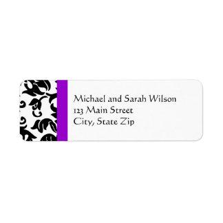 Elija sus propias etiquetas del remite del color etiqueta de remite