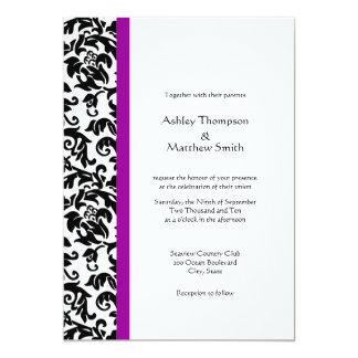 """Elija sus propias invitaciones del boda del color invitación 5"""" x 7"""""""