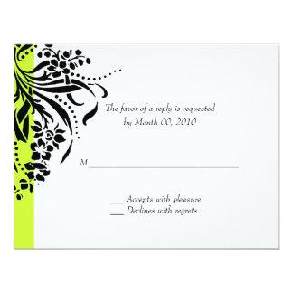 """Elija sus propias tarjetas de contestación del invitación 4.25"""" x 5.5"""""""