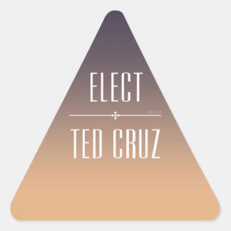 Elija Ted Cruz Pegatina Triangular