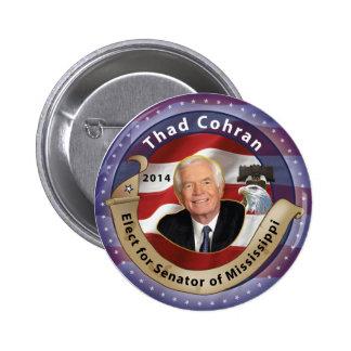 Elija Thad Cohran para el senador de Mississippi Pin