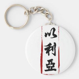 Elijah 以利亞 translated to Chinese name Keychain