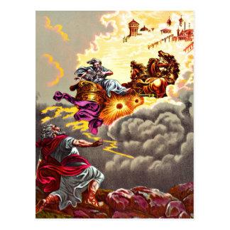 Elijah Ascends to Heaven postcard