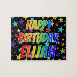 "[ Thumbnail: ""Elijah"" First Name, Fun ""Happy Birthday"" Jigsaw Puzzle ]"