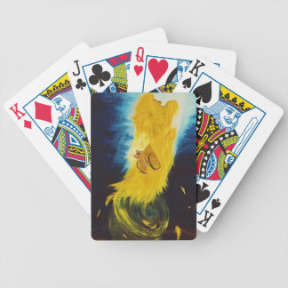 Elijah going up in chariot bicycle playing cards