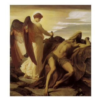 Elijah in Wilderness by Lord Frederic Leighton Poster