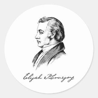 Elijah Parish Lovejoy Classic Round Sticker