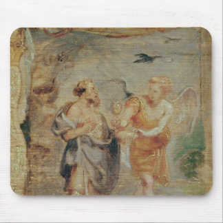 Elijah Receiving Bread and Water from an Angel Mouse Pad