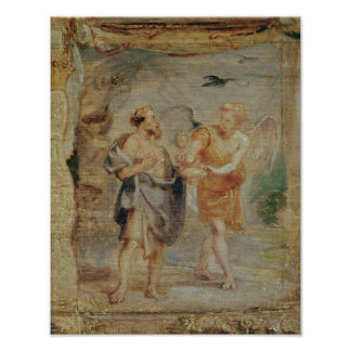 Elijah Receiving Bread and Water from an Angel Poster