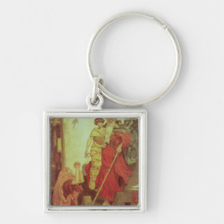 Elijah restoring the Widow's Son, 1868 Silver-Colored Square Keychain
