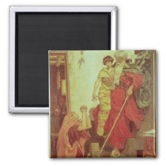 Elijah restoring the Widow's Son, 1868 2 Inch Square Magnet