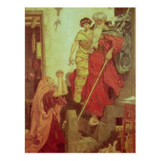 Elijah restoring the Widow's Son, 1868 Postcard