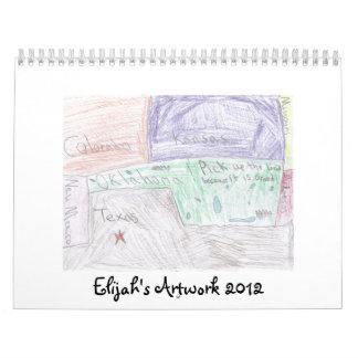 Elijah Townes Artwork 2012 Calendar
