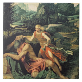 Elijah Visited by an Angel, c.1534 Tile