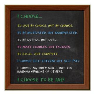 ELIJO de motivación Perfect Poster