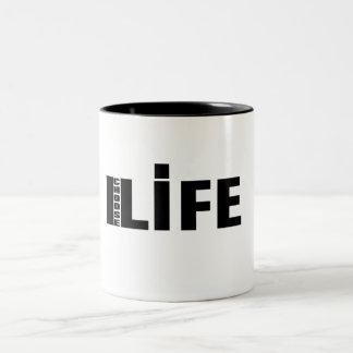 Elijo el mub de la vida taza dos tonos