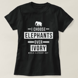 Elijo elefantes sobre la marfil remeras