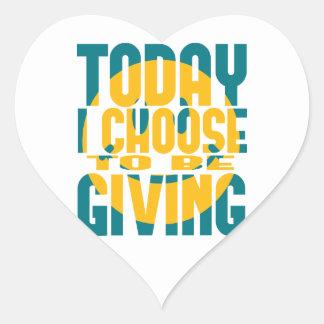 Elijo hoy dar calcomanía corazón personalizadas