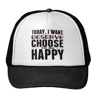 ELIJO hoy ser feliz Gorras